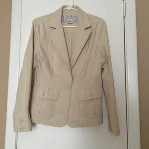 Maurices Cream Jacket Size Large